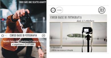 Corso di fotografia | Autunno 2021, in collaborazione con Camera.to (base)